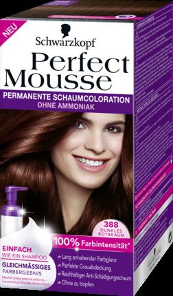 Barva na vlasy Perfect Mousse tmavě červenohnědá 388