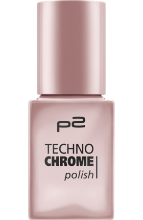 Lak na nehty p2 Techno Chrome Frozen Rose 050, 10 ml