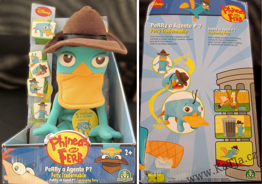 Plyšový ptakopysk PERRY Phineas a Ferb - transformovatelný